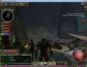 the first time I did Misery's Peak in DDO I was delighted to see an actual dragon in the game