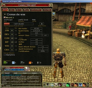 character stats for dungeons and dragons online